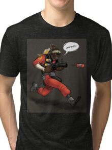 Team Fortress 2 Lets Do It Demoman Poster Tri-blend T-Shirt