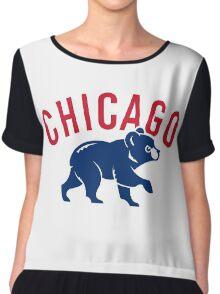 cubs chicago Chiffon Top