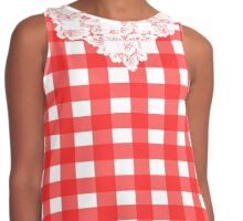 Country Lace - Tomato Contrast Tank