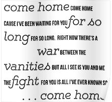 """Come Home"" by OneRepublic Poster"