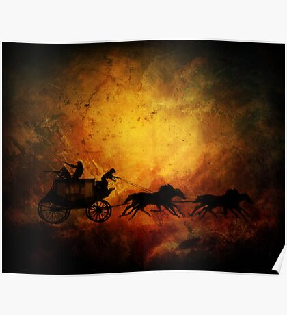 Wild west cowboy chaise Poster