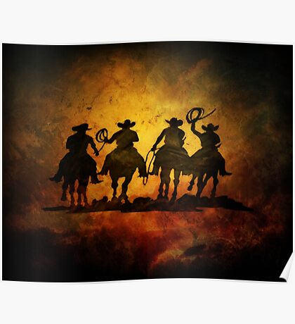 Wild West Cowboys Poster