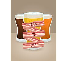 Bacon and Beer Photographic Print