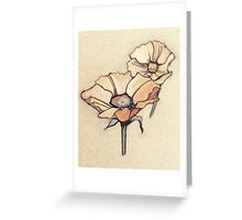 Art Nouveau Flowers Greeting Card