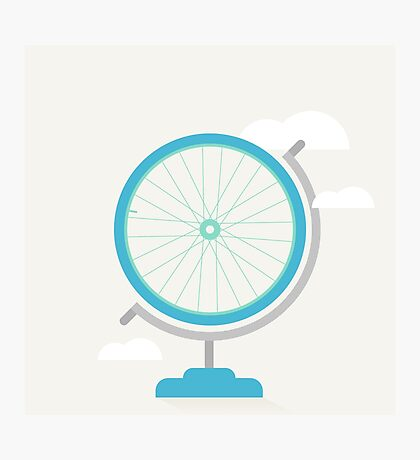 Bike Globe Photographic Print