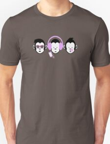 Three Hipster Apes Unisex T-Shirt