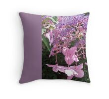 Holyrood Hydrangea, Edinburgh Throw Pillow