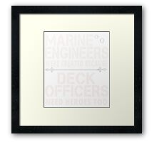 marine engineers Framed Print