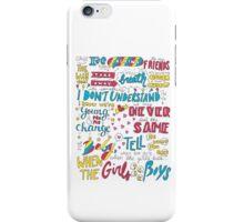 Girls Talk Boys Lyrics iPhone Case/Skin