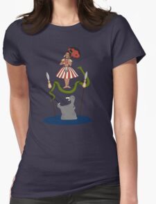 Jungle Cruise vs. Haunted Mansion Womens Fitted T-Shirt