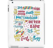 Girls Talk Boys Lyrics iPad Case/Skin