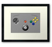 N64 Buttons Framed Print