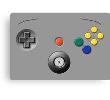 N64 Buttons Canvas Print