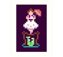 8-bit Haunted Mansion Tightrope Girl Art Print