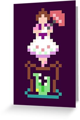 8-bit Haunted Mansion Tightrope Girl by Tiffany Bailey