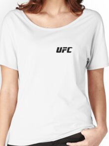 UFC Small Logo Black / White Women's Relaxed Fit T-Shirt
