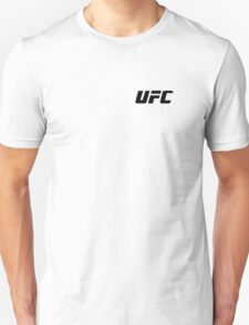 UFC Small Logo Black / White Unisex T-Shirt