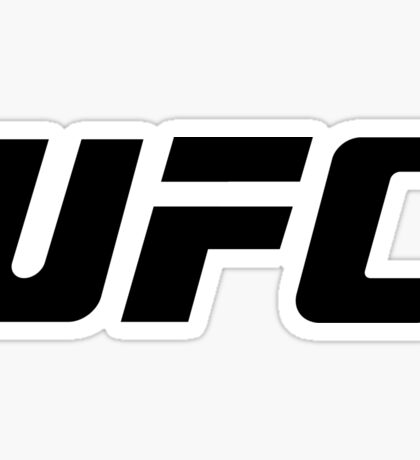 UFC Small Logo Black / White Sticker