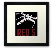 Red 5 Framed Print