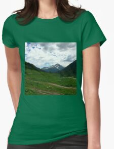 The mountains Womens Fitted T-Shirt