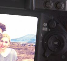 Nate and Elena's camera Sticker