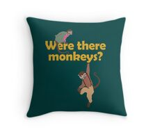 Were there monkeys? (yellow) Throw Pillow