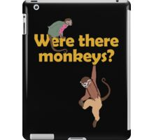 Were there monkeys? (yellow) iPad Case/Skin