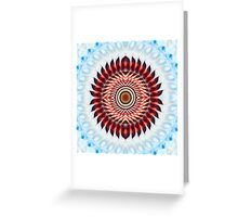 Windmill mandala abstract Greeting Card