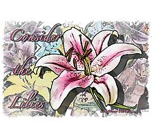 Consider the Lilies Photographic Print