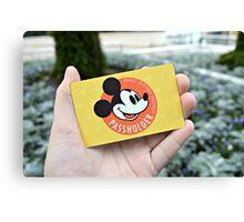 Disney Annual Passholder Card Canvas Print