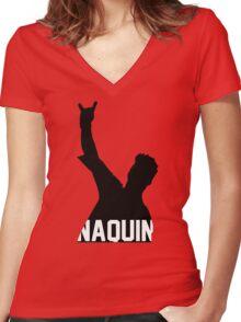 Tyler Naquin Silhouette Women's Fitted V-Neck T-Shirt