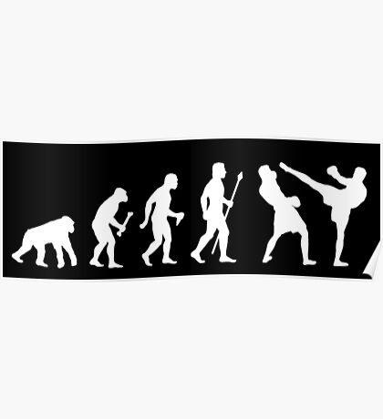 Evolution Of Man And Kickboxing Poster