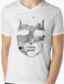 Face ink Sketch Mens V-Neck T-Shirt
