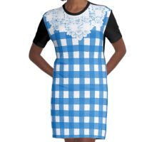 Country Lace - Blueberry Graphic T-Shirt Dress