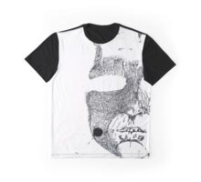 Face ink Sketch Graphic T-Shirt