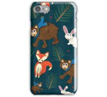Winter Woodland Critters iPhone Case/Skin