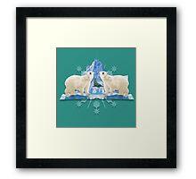 Polar bear brunch Framed Print