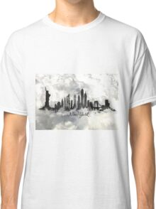 New york city skyline in Black and white Classic T-Shirt