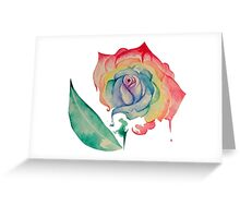 Watercolour Rose - No Background Greeting Card