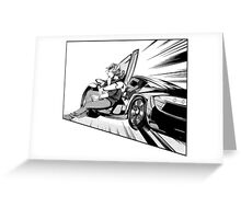 Driving fast Greeting Card