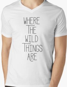 Where The Wild Things Are - Text  Mens V-Neck T-Shirt