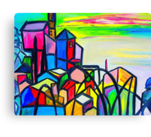 Rainbow Houses Canvas Print