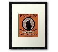 Premium Owl Treats Framed Print