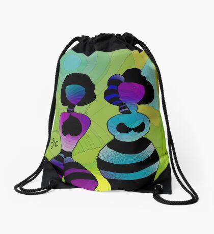 Alien Sisters Drawstring Bag