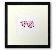 EXO Logo K-Pop Pink Polkadot Print  Framed Print