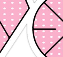EXO Logo K-Pop Pink Polkadot Print  Sticker