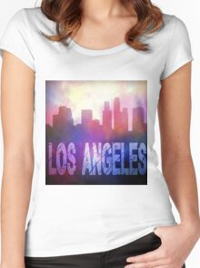 Los Angeles city skyline Women's Fitted Scoop T-Shirt