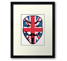 Guy Fawkes British Flag Framed Print