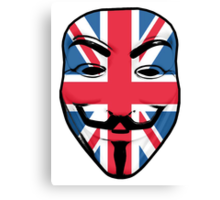 Guy Fawkes British Flag Canvas Print