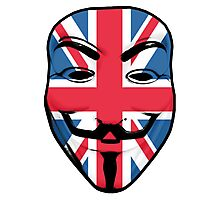 Guy Fawkes British Flag Photographic Print